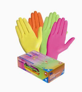 Manusi examinare nitril colorate mix de 4 culori