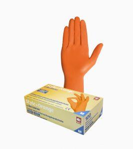 Manusi examinare nitril portocalii
